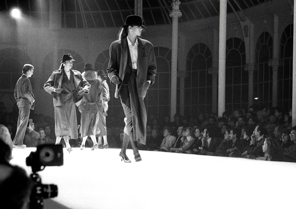 FRANCIS MONTESINOS A FASHION SHOW IN 1983